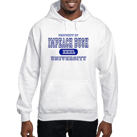 Impeach Bush University Hooded Sweatshirt