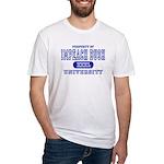 Impeach Bush University Fitted T-Shirt