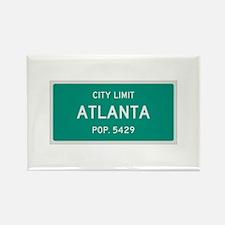 Atlanta, Texas City Limits Rectangle Magnet