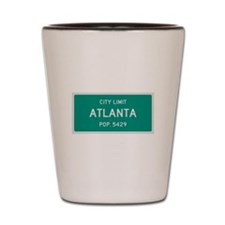 Atlanta, Texas City Limits Shot Glass