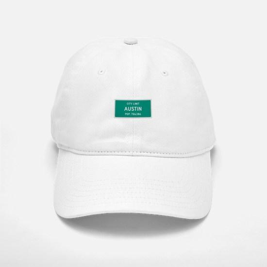 Austin, Texas City Limits Baseball Baseball Baseball Cap
