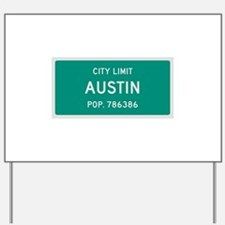 Austin, Texas City Limits Yard Sign