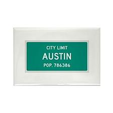Austin, Texas City Limits Rectangle Magnet