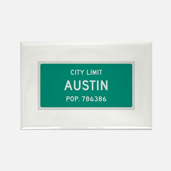 Austin, Texas City Limits Rectangle Magnet