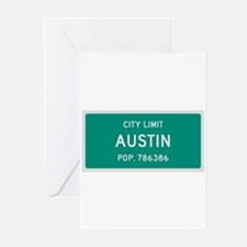 Austin, Texas City Limits Greeting Cards (Pk of 20