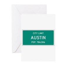 Austin, Texas City Limits Greeting Cards (Pk of 10