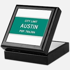 Austin, Texas City Limits Keepsake Box