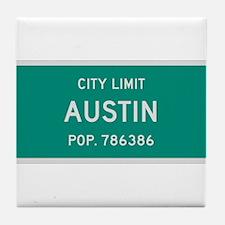 Austin, Texas City Limits Tile Coaster