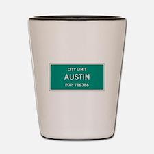 Austin, Texas City Limits Shot Glass