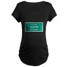 Austin, Texas City Limits Maternity T-Shirt