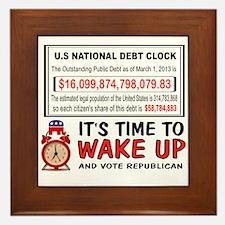 DEBT CLOCK Framed Tile