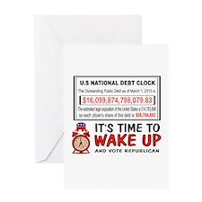 DEBT CLOCK Greeting Card