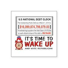 DEBT CLOCK Sticker
