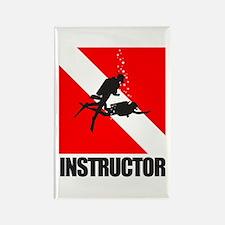 Dive Instructor (blk) Rectangle Magnet