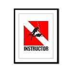 Dive Instructor (blk) Framed Panel Print