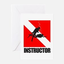 Dive Instructor (blk) Greeting Cards (Pk of 10)