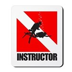 Dive Instructor (blk) Mousepad