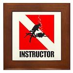 Dive Instructor (blk) Framed Tile