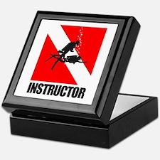 Dive Instructor (blk) Keepsake Box