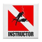 Dive Instructor (blk) Tile Coaster