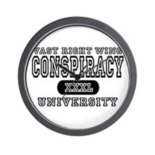 Right Wing Conspiracy University Wall Clock