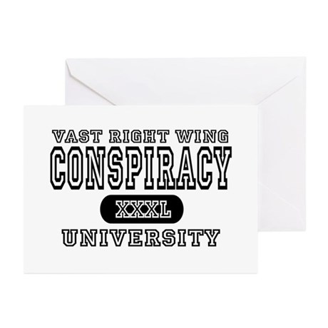 Right Wing Conspiracy University Greeting Cards (P