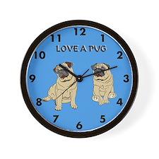 Love A Pug Wall Clock