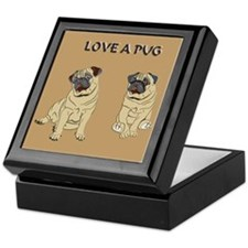 Love A Pug Keepsake Box