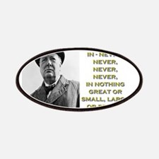 Never Give In - Churchill Patch