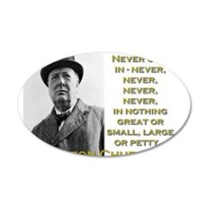 Never Give In - Churchill Wall Decal