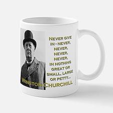 Never Give In - Churchill Mug