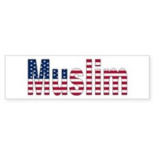 Muslim American Bumper Bumper Sticker