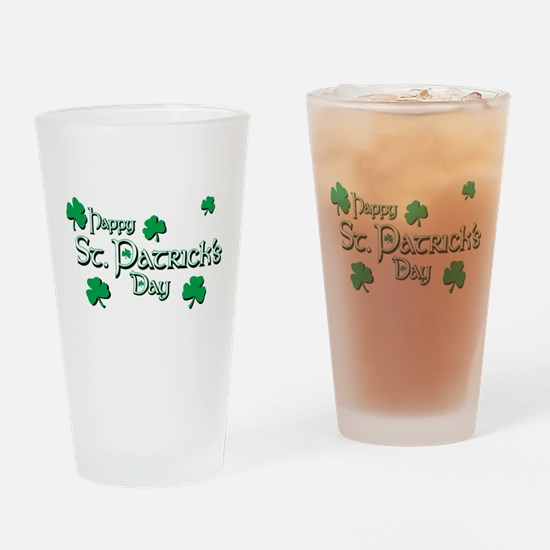 Happy St. Patricks Day Drinking Glass