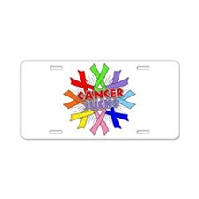 All Cancers Suck Aluminum License Plate
