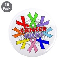 """All Cancers Suck 3.5"""" Button (10 pack)"""