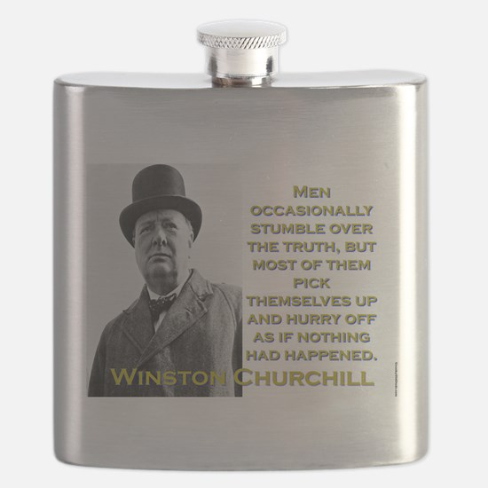 Men Occasionally Stumble - Churchill Flask