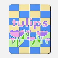Geometric Spring Tulips Mousepad