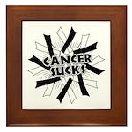 Carcinoid Cancer Sucks Framed Tile