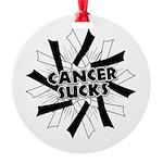 Carcinoid Cancer Sucks Round Ornament