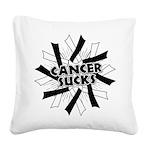 Carcinoid Cancer Sucks Square Canvas Pillow