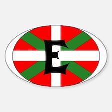 E Flag Rectangle Decal