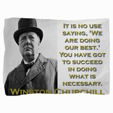 It Is No Use Saying - Churchill Pillow Sham