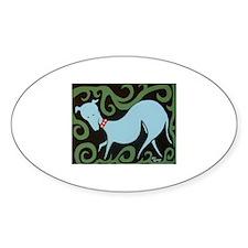 Italian Greyhound Oval Decal