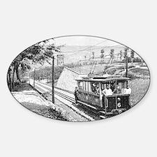 Electric railway, artwork - Sticker (Oval 10 pk)