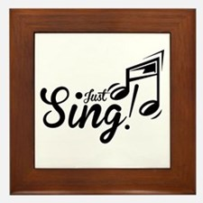 Just Sing Framed Tile