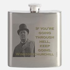 If Youre Going Through Hell - Churchill Flask