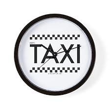 Taxi checker cab written TAXI Wall Clock