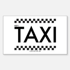 TAXI Rectangle Sticker to put on your CAB