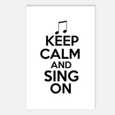 Keep Calm and Sing On Postcards (Package of 8)