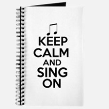 Keep Calm and Sing On Journal